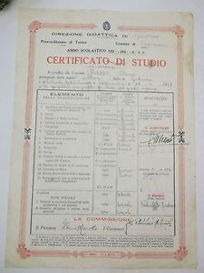 PAGELLA SCUOLA ELEMENTARE DI CAPRAUNA CUNEO 1935-36 10BIS-73