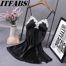 UK Women Sexy Lace Lingerie Nightwear Underwear Robe Babydoll Sleepwear Dress