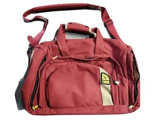 DELSEY Vintage Carry On Overnight Travel Red Bag Backpack Duffel Duffle New
