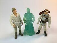 Vintage 1980 Kenner Star Wars ESB Hoth Rebel Soldier, GHOST BEN mail away, Luke
