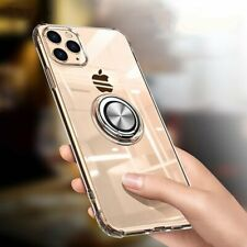Cell Phone Case Transparent Magnetic Finger Ring Mobile Cover Gadget Accessories