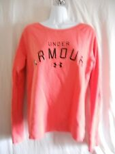 Under Armour All Season Gear Pull On Sweatshirt Women M Coral Color