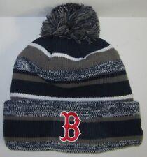1fe6373b9a1e7e Boston Red Sox New Era Pom Pom Beanie ~Knit Cap ~Classic MLB Patch/