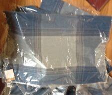 Pottery Barn Tate Plaid Lumbar Pillow Cover Blue 20x30 Silk New