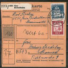 Ungeprüfte Briefmarken aus der BRD (ab 1948) mit Briefstück-Erhaltungszustand