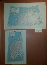 1945 US Army Special Strategic Maps Norway AMS 6201 1:2,000,000