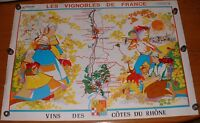"Rare 1969 M. S. DUTTER French Art Wine Poster Lithograph 36.5"" X 26.5"" SOPEXA"