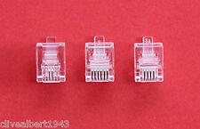 Set di 36 CRIMPARE PLUG'S per banda larga/ADSL/telefono 12 RJ10/12 RJ11/12 RJ12 NUOVO