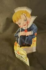 Vintage Carrington Valentines Day Card Stand Up Die Cut - No Writing RefCard#