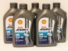 7,10 €/L Shell Advance Ultra 4t 10w-40 5 x 1 L. Vollsyn 4 Takt Olio Motore per Ducati