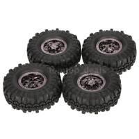 100% AUSTAR AX-4020C 1.9 Inch 110mm 1/10 Rock Crawler Tires +Wheel Rim 4Pcs M5D1