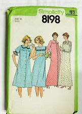 New ListingVintage Simplicity Sewing Pattern cut Nightgown Robe Size 16 #8198