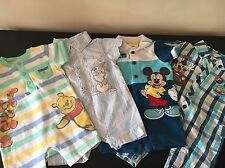 Baby Boy Disney Mickey Winnie Pooh holiday rompers bundle newborn 0-3months NWOT