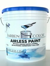 PITTURA  MURALE AIRLESS PAINT SPECIFICA A SPRUZZO BIANCO LT 15