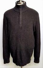 Banana Republic Mens Sweater Charcoal Gray Mock Neck Size XL