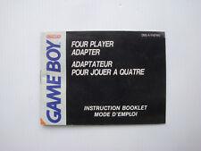 Notice d'origine instruction manual pour adaptateur 4 joueurs console game boy