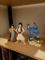 RARE! Disney Aladdin & Princess Jasmine and Genie SCHMID Porcelain Figurine
