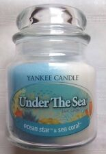 Yankee Candle UNDER THE SEA 13 oz SWIRL Ocean Star & Sea Coral RETIRED ITEM HTF