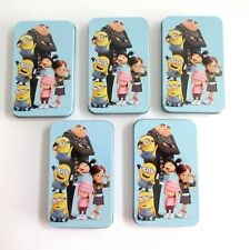 Tin Box Gift Card Holders Despicable Me Minions Any Occasions Lot of 5