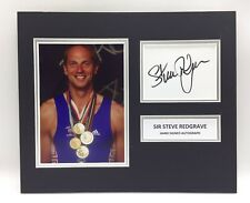 RARE Sir Steve Redgrave Olympics Signed Photo Display + COA AUTOGRAPH ROWING