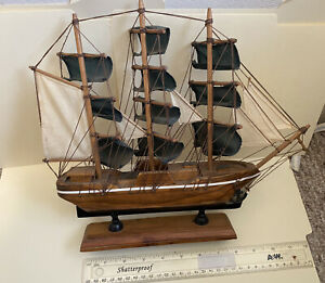 Antique Wooden Clipper Ship - Handcrafted model