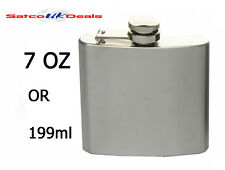 7oz Chrome Hip Flask Stainless Steel Pocket Bottle Liquor Whiskey Vodka Holder