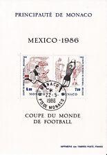 Monaco - 1986 - Mexico 86  Coupe du monde de Foot - Bloc N° 35 - Oblitéré - Used