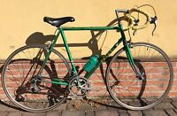 Bici corsa acciaio vintage Peter 5x2 road bike steel made in Italy eroica