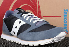 New Saucony Jazz LowPro Navy Blue Grey White Leather Running Shoes - Size 11.5