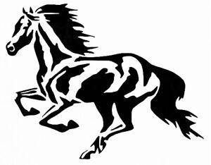 Running Horse Stencil Durable & Reusable Plastic Stencils 7x5
