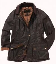 "Barbour Beadnell USA Size 12 Waxed Cotton Jacket ""Rustic"" NWT"