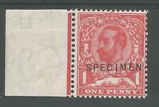 SG327s THE SCARCE 1911-12 GV 1d CARMINE RED MNH MARGINAL SPECIMEN O/PRINT C£550+