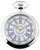 Excellanc Taschenuhr Weiß Blau Silber Römische Ziffern Analog X485722000033