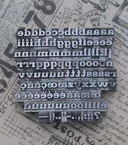 Alphabet Bleilettern Letter Druckbuchstaben Lettern Vintage Stempel Bleiletter,*
