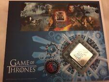 Juego de tronos hielo Royal Mail primer día Sello cubierta de metal con símbolo de Stark