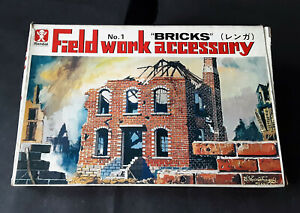 "Vintage & rare 1/48 Bandai Field Work Accessory No.1 ""BRICKS"" model kit"