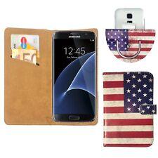 UK/USA America Flag Nano Flip 360°Cell Phone Cover For Motorola Moto E5 - XL