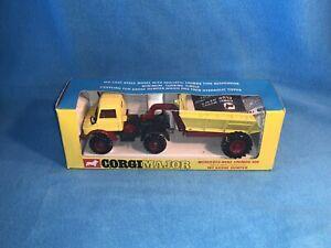 Corgi Major Vintage Diecast 1145 Mercedes-Benz Unimog & Goose Dumper New in Box