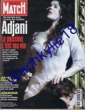 paris Match 2684 02/11/2000 Isabelle Adjani Israël Palestine Aznavour Le Clézio