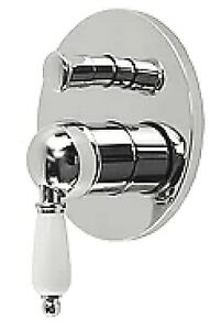 Watermark Traditional Antique Wall Mixer Tapware Tap Diverter Chrome Shower Bath