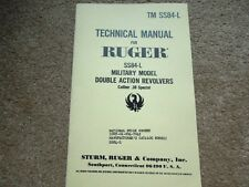 Ruger Revolver SS84-L  Model Double Action .38 Sp.  Manual 16 Pages NEW