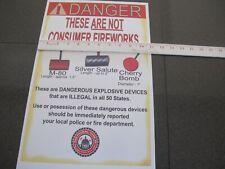 Fireworks Firecracker Silver Salute M-80 Cherry Bomb POSTER Copy