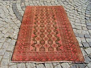 6/'8x3/'5 ft Handmade Afghan baluch rug nice tribal rug oriental area rug vegetable dyed decorative unique rug vintage