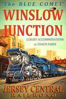 WINSLOW JUNCTION Jersey Central Railroad BLUE COMET Train Poster Art Print 042