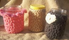 Jar Cozy Pattern Only ......for drinks gifts storage yarn crochet original