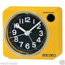 original[Seiko]Bedside beep alarm clock Snooze Sweep LED+Free Shp~QHE100Y,YELLOW