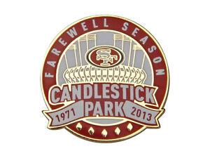 Official San Francisco 49ers Candlestick Park 1971 2013 Farewell Season pin