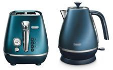 Delonghi KBI2001BL CTI2003BL Distinta Kettle & Toaster Pack - Blue - RRP $317.98