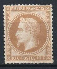 "FRANCE STAMP TIMBRE 28 A "" NAPOLEON III 10c BISTRE TYPE I "" NEUF xx TB  M331"