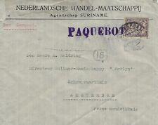 AMSTERDAM PAQUEBOT ENVELOPE - IN PURPLE